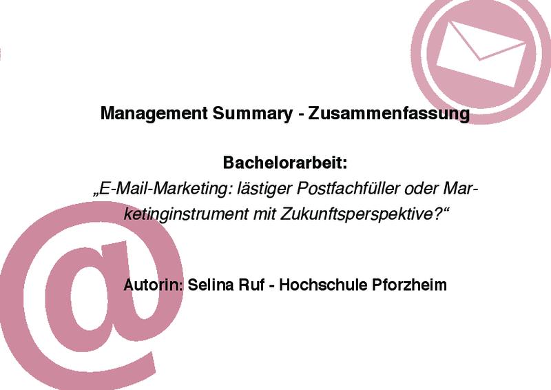 E Mail Marketing Ein Marketing Instrument Mit Zukunftsperspektive