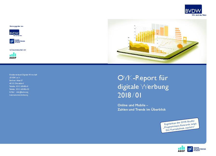 OVK-Report für digitale Werbung 2018/01: Bundesverband Digitale ...